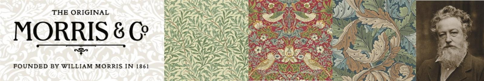 Morris and Co Wallpaper- Bachelors Button