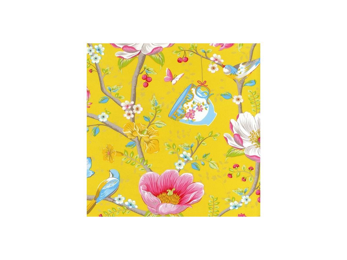Shabby Chic Wallpaper Uk pip shabby chic wallpaper chinese garden 341006 yellow