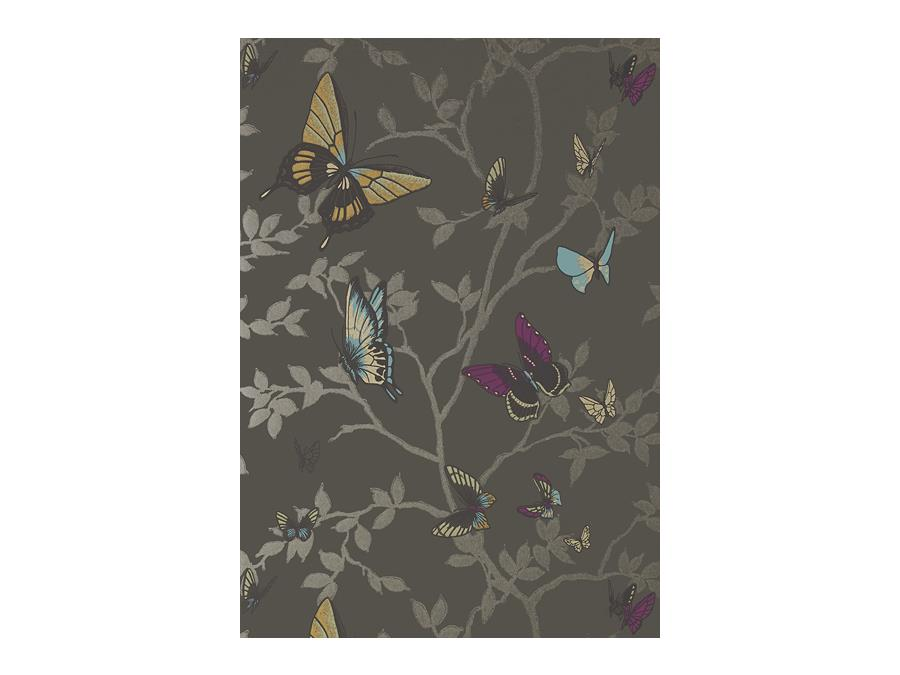 Anna French Seraphina Butterfly Wallpaper At6026 Charcoal