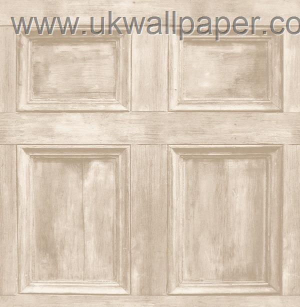 Wood panel wallpaper limed oak