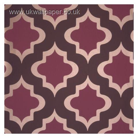 Clarke and Clarke Couture Wallpaper Kasbah Damson