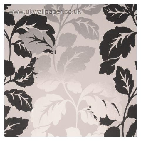 Clarke and Clarke Couture Wallpaper Ornella Black and White
