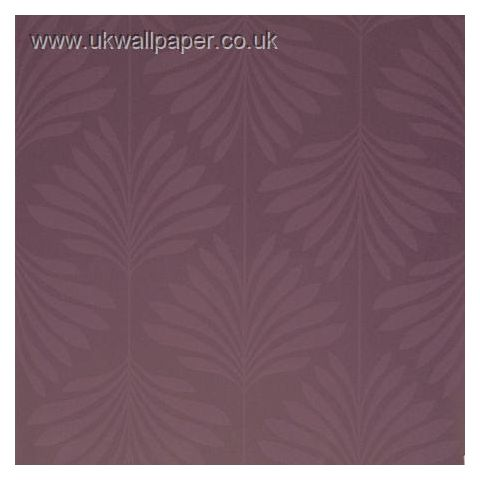 Clarke and Clarke Couture Wallpaper Vogue Damson