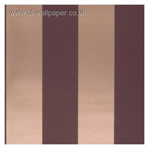 Clarke and Clarke Couture Wallpaper Bravo Stripe Damson