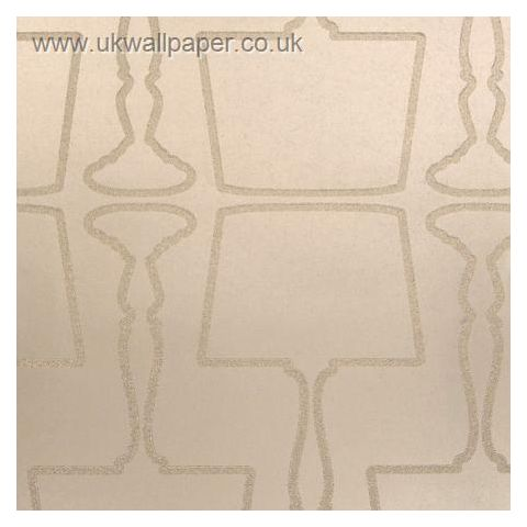 Clarke and Clarke Couture Wallpaper Lamps Nickel