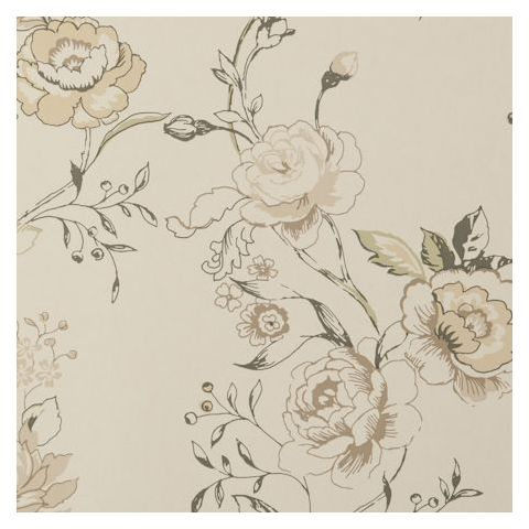 Clarke and Clarke Clarisse Wallpaper-Clarisse Floral W0026/01 Charcoal