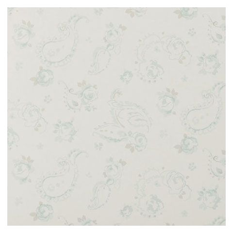 Clarke and Clarke Clarisse Wallpaper-Evelina Floral W0028/02 Duckegg