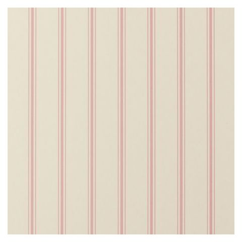 Clarke and Clarke Clarisse Wallpaper-Jolie Stripe W0029/04 Rose