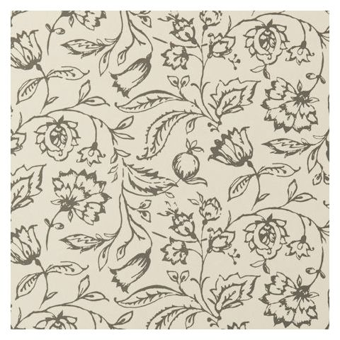 Clarke and Clarke Clarisse Wallpaper-Marie Floral W0031/01 Charcoal/Cream