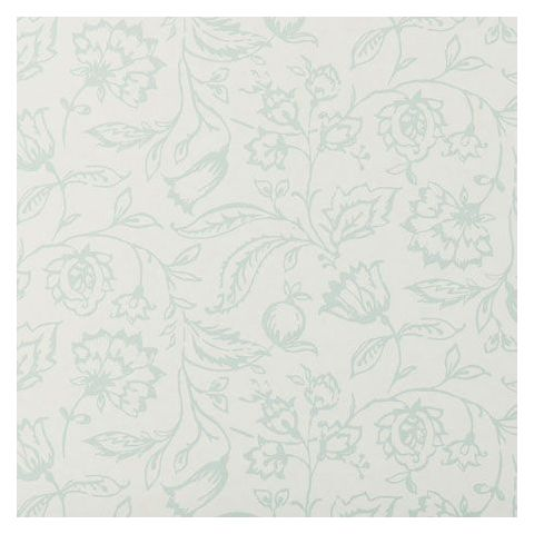 Clarke and Clarke Clarisse Wallpaper-Marie Floral W0031/03 Duckegg/Cream