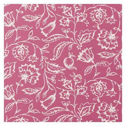 Clarke and Clarke Clarisse Wallpaper-Marie Floral W0031/06 Raspberry