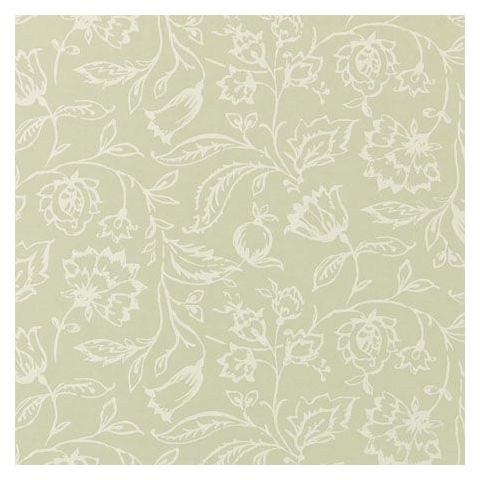 Clarke and Clarke Clarisse Wallpaper-Marie Floral W0031/08 Sage