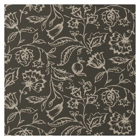 Clarke and Clarke Clarisse Wallpaper-Marie floral W0031/12 Charcoal