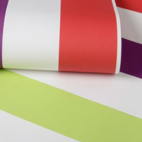Graham and Brown Super Stripe Wallpaper Brights 100098