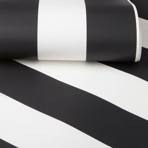 Graham and Brown Super Stripe Wallpaper Monochrome 100099