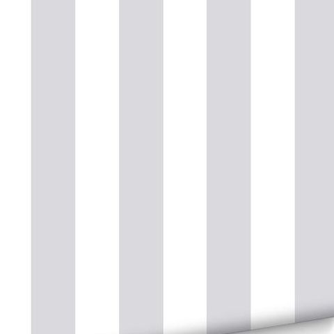 Graham and Brown Super Stripe Wallpaper Silver 100100