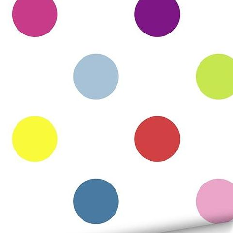 Graham and Brown Dotty Wallpaper Brights 100103