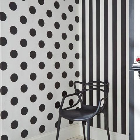 Graham and Brown Dotty Wallpaper Black 100104