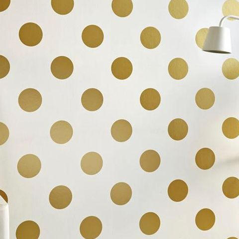 Graham and Brown Dotty Wallpaper Gold 100105