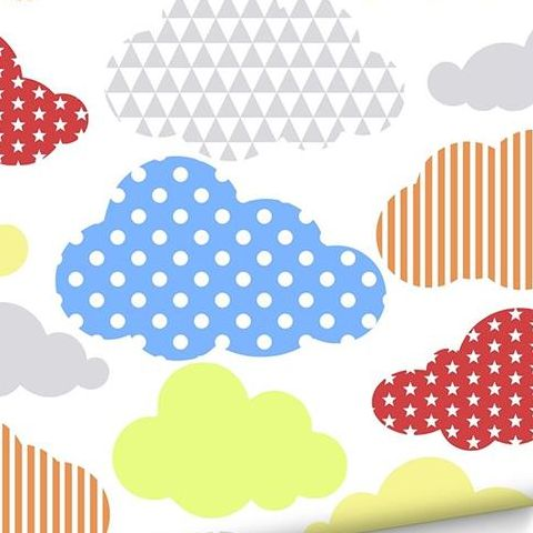 Graham and Brown Marshmellow Clouds Wallpaper Pastels 100112