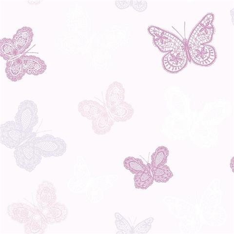GRAHAM AND BROWN butterfly WALLPAPER 100114 pink