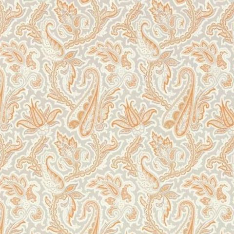Thibaut Menswear Resource Winchester Paisley Wallpaper T1016 Tangerine and Grey