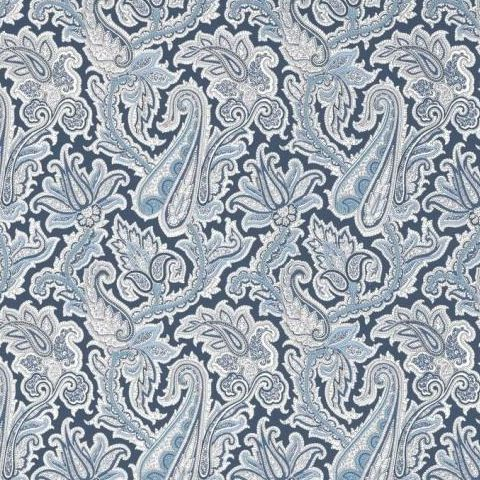 Thibaut Menswear Resource Winchester Paisley Wallpaper T1018 Navy