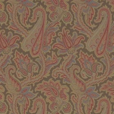Thibaut Menswear Resource Winchester Paisley Wallpaper T1019 Chestnut