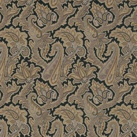 Thibaut Menswear Resource Winchester Paisley Wallpaper T1020 Black