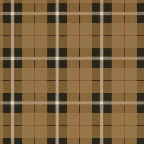 Thibaut Menswear Resource Winslow Plaid Wallpaper T1028 Camel and Black