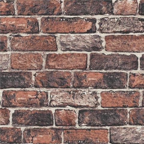 GRAHAM AND BROWN brick WALLPAPER red 102834