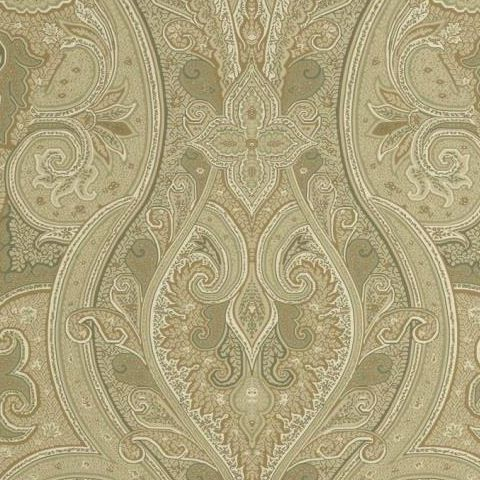 hibaut Menswear Resource Patani Wallpaper T1032 Sage and Camel