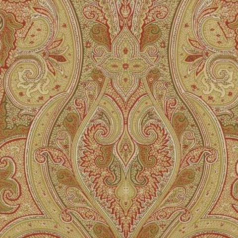 hibaut Menswear Resource Patani Wallpaper T1033 Camel and Red