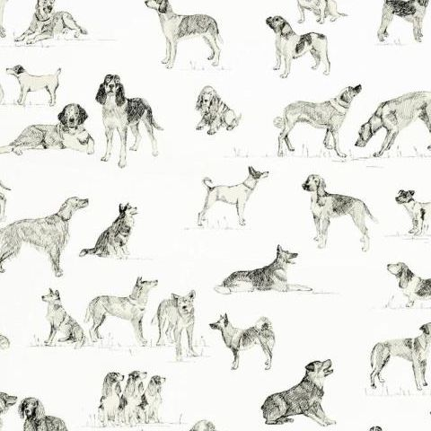 Thibaut Menswear Resource Best Friend Wallpaper T1038 Black and White
