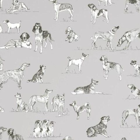 Thibaut Menswear Resource Best Friend Wallpaper T1039 Grey