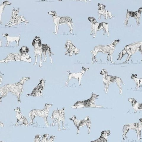 Thibaut Menswear Resource Best Friend Wallpaper T1040 Blue