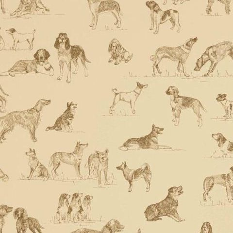 Thibaut Menswear Resource Best Friend Wallpaper T1042 Camel