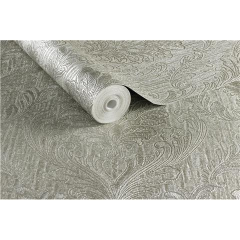 Evita Boutique Vinyl Wallpaper Corsetto Damask Taupe 104776