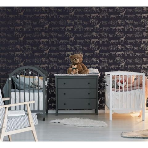 GRAHAM AND BROWN safari WALLPAPER 104893 midnight