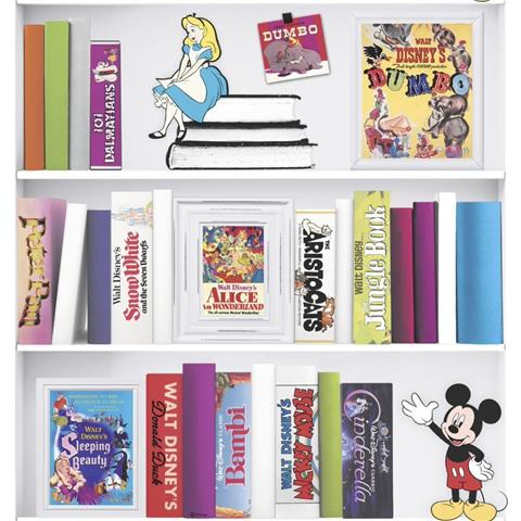 Disney Book shelf wallpaper 106455