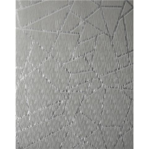 Sublime Theia Wallpaper Geo Silver 106595