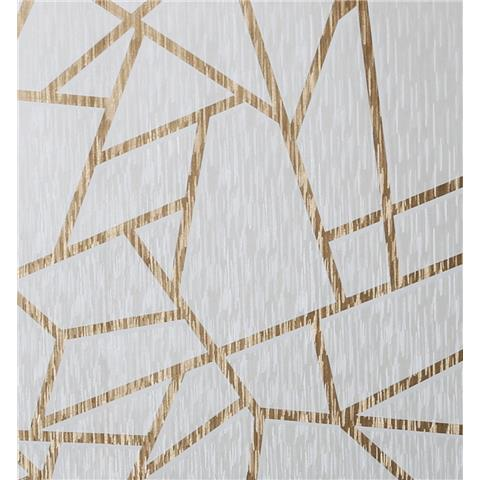 Sublime Theia Wallpaper Geo Gold 106597