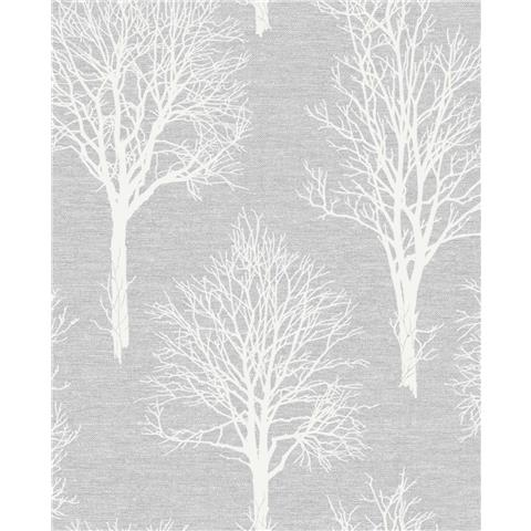 Tranquillity Landscape Wallpaper by Boutique 106668 Dove Grey