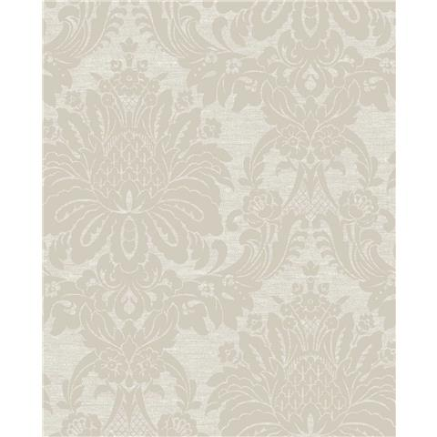 Tranquillity Vogue Damask Wallpaper by Boutique 106674 Taupe