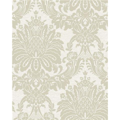 Tranquillity Vogue Damask Wallpaper by Boutique 106676 Ivory