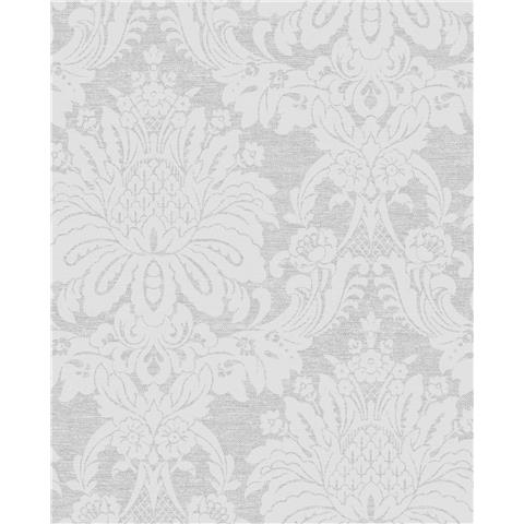 Tranquillity Vogue Damask Wallpaper by Boutique 106678 Dove Grey