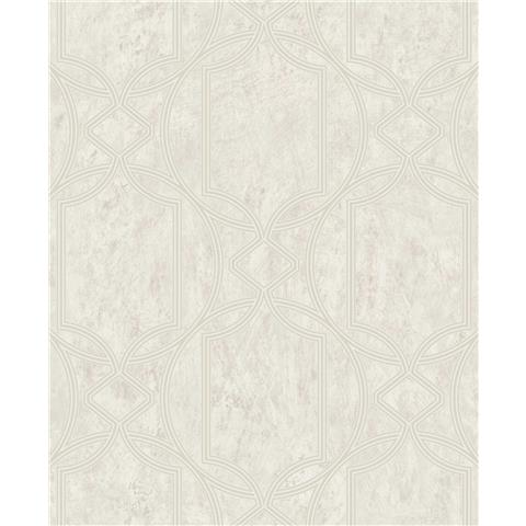 Tranquillity Deco Geometric Wallpaper by Boutique 106679 Ecru