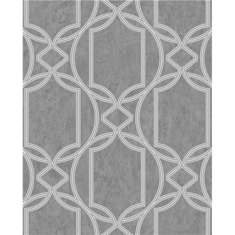 Tranquillity Deco Geometric Wallpaper by Boutique 106680 Midnight