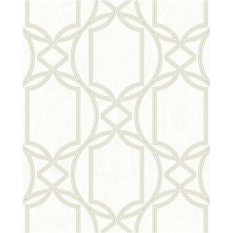 Tranquillity Deco Geometric Wallpaper by Boutique 106681 Ivory