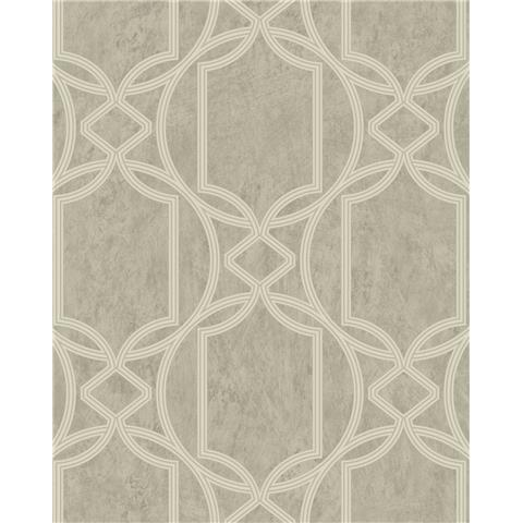 Tranquillity Deco Geometric Wallpaper by Boutique 106682 Taupe